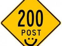 200 POST!!!
