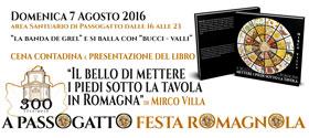 A Passogatto Festa Romagnola, Cena Contadina e presentazione del libro di Mirco Villa