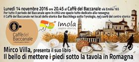 Presentazione del libro al Caffe' del Baccanale nel Centro Storico di Imola