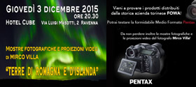 2015 - Terre di Romagna e d'Islanda alla presentazione Pentax