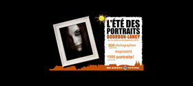 2010 – L'ete des portraits a Bourbon-Lancy –  slide show projected on the walls of the city